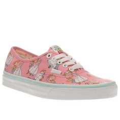 womens vans pink authentic toy story woody & bo trainers