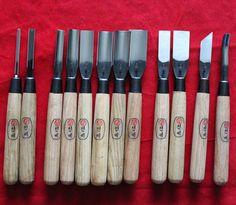 {Dongbang}Wood Carving Tools Chip Detail Chisel set Knives 12Pcs Knife Korea (awesome)