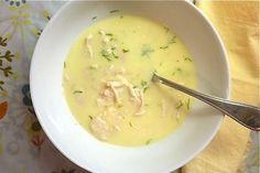 Avgolemono Soup with Cod
