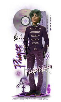 R.I.P. Prince by tracireuer on Polyvore featuring art