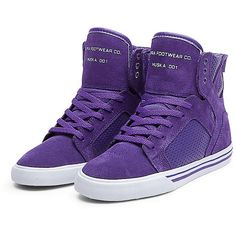 Purple White Sneakers ❤ liked on Polyvore featuring shoes, sneakers, men, man, white trainers, white shoes, purple sneakers, white sneakers and purple shoes