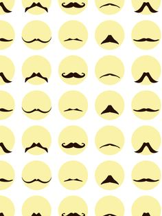 Pattern featuring different mustache icons on a light background. Support Movember with this cool mustache pattern. Cool Mustaches, Illustrator Cs5, Movember, Lights Background, Moustache, Background Patterns, Creative Inspiration, Phones, Personality