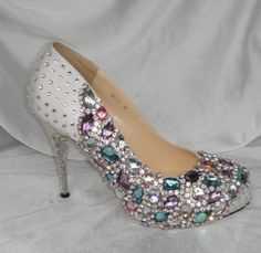 My wedding shoes :) BLING BLING baby!!!