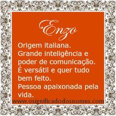 Significado do nome Enzo   Significado dos Nomes