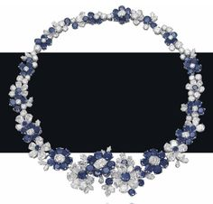 A superb sapphire and diamond flower necklace, by Bulgari. Photo Christie's Image Ltd 2013