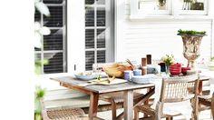 Casual Outdoor Setting | Designer: Estée Stanley | Quick Change: Lea Michele | Domaine
