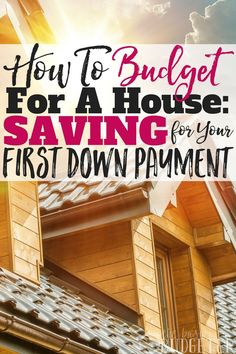 Buying a house is a BIG goal of ours, but learning how to budget for a house is new and intimidating! I'm so excited about these easy to implement budgeting tips to help us save money for our first down payment! Great article!!
