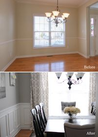 Before and after of this whole house