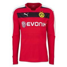 683690232 Borussia Dortmund 2015 16 Red Goalkeeper Long Sleeve Men Full Kit