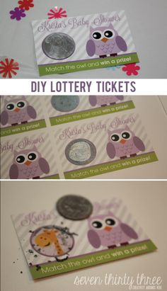 DIY Lottery Tickets