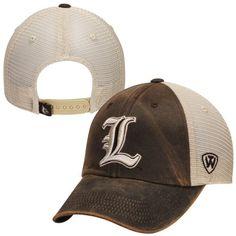 big sale 3a15d 38590 Louisville Cardinals Top of the World Brown Scat Mesh Snapback Adjust Hat  Cap