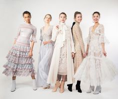 Backstage at the Temperley London Winter 2016 LFW show.