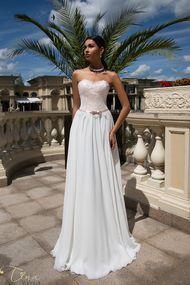 chiffon wedding dress new collection Tina Valerdi