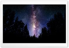 Milky Way Night Photo HD Wide Wallpaper for Widescreen