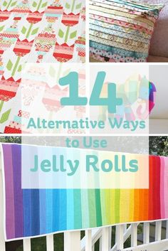 14 Alternative Ways to Use Jelly Rolls #jellyroll #quilting