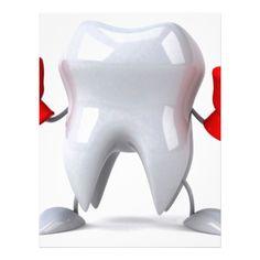Happy Smiling Tooth Letterhead Custom Office Retirement #office #retirement