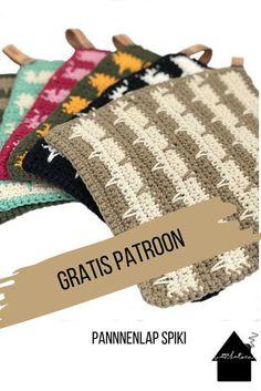 Gratis patroon pannenlap - Apocalypse Now And Then Crochet Cross, Crochet Home, Diy Crochet, Crochet Stitches Patterns, Stitch Patterns, Knitting Patterns, Crochet Potholders, Learn To Crochet, Free Knitting