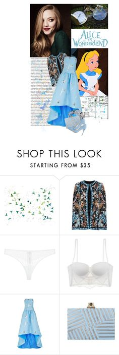 """""""I keep wishing it could be that way because my world would be a wonderland!"""" by ithinkinblack ❤ liked on Polyvore featuring Naeem Khan, La Perla, Oscar de la Renta, ASOS, Kelly Wearstler, Gianvito Rossi and modern"""