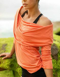 Hooded Top Throw Over Orange - Amy Hotz Wellness