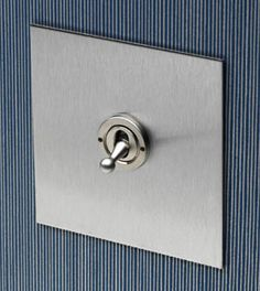 The stainless steel range of switches, dimmers and sockets from Forbes and Lomax