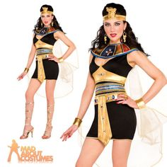 Adult sexy cleopatra beauty costume #fancy #dress ladies egyptian goddess #outfit,  View more on the LINK: 	http://www.zeppy.io/product/gb/2/161731641214/