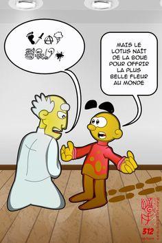 BD - ZEM : « En voulant sauter jusqu'à la lune, vous pourriez tomber dans la boue. »  #bd   #zen   #lotus    http://frederic.baylot.org/post/18814-zem312