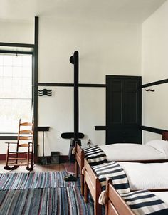 Dorm Room Interior Shaker Village Black Interior Doors, Room Interior,  Primitive Bedroom, Black