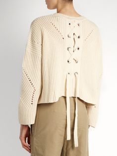 Isabel Marant Grifin lace-up back cotton-blend sweater