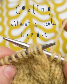 Technique Thursday - Cabling without a cable needle