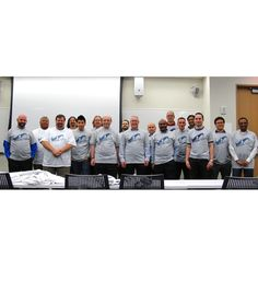 Members of the New York City SQL Server Users groups showing off their new MSSQLTips.com t-shirts.