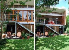 Basement House, Cabin Homes, Small House Plans, Prefab, Open House, Terrace, Exterior, House Design, Architecture