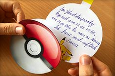Pokemon-Party zum Kindergeburtstag: printable Einladungskarten Birthday Invitations, Pokemon Birthday, Printables, Print Templates, Invitation Cards, Children, Lego Birthday Party, Birthday Party Invitations, Pokemon Birthday Card