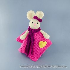 $4.99--Ravelry: Olivia the Bunny Security Blanket pattern by Carolina Guzman