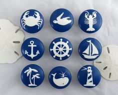 Handmade Furniture Set of Nautical Drawer Knobs * Visit the image link more details. Nautical Drawer Knobs, Nautical Drawers, Nautical Furniture, Handmade Furniture, Furniture Market, Modern Furniture, Nautical Design, Nautical Home, Nautical Christmas