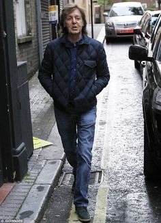 Low-key luncheon: Paul McCartney was spotted meeting his daughter Stella at a Japanese restaurant in London on Wednesday