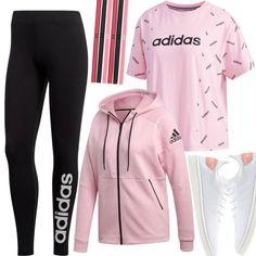 86a2669d Adidas T-Shirt Damen Pink Outfit für Damen zum Nachshoppen auf Stylaholic