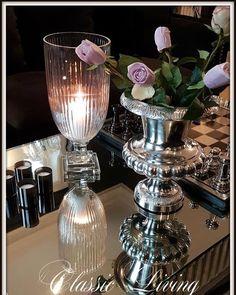 Rihanna Pokalvase (small) & Magnolia Glassvase  Nydelig Pokalvase i Polished aluminium. Tung og solid pokalvase som er et blikkfang på bordet.   Str:  H: 30 cm  D: 26 cm Til venstre: #magnoliavase  Se mer på http://ift.tt/2g96OsB #classicliving #Rihannapokalvase_smal