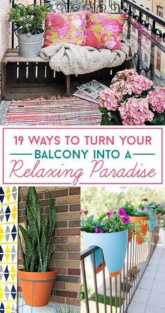 19 Genius Ways To Turn Your Tiny Outdoor Space Into A Relaxing Nook #BalconyGarden