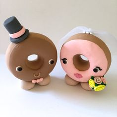 Donut Wedding Cake Topper Choose Your Colors by topofthecake