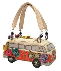 Mary Frances Handbag Get on The Bus VW Vintage Auto Beaded Jeweled Bag Purse Vw Vintage, Vintage Purses, Vintage Handbags, Unique Vintage, Vintage Prom, Handmade Handbags, Vintage Girls, Mary Frances Purses, Mary Frances Handbags