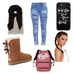 """""""Middle school outfit"""" by ithhhhhhu on Polyvore featuring MANGO, Casetify, UGG and Victoria's Secret"""