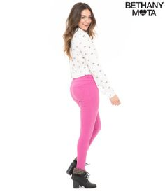 High-Waisted Color Wash Jegging - Bethany Mota Collection