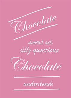 free funny saying printable for chocolate lovers – lustiger Spruch für Schokoladen-Fans – freebie | MeinLilaPark – digital freebies