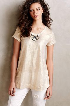Glimmered Tee - anthropologie.com #anthropologie #AnthroFave