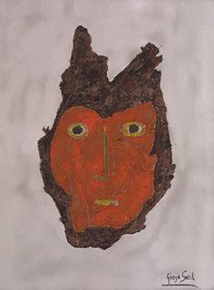 "Saatchi Art Artist Giorgio Sorel; Painting, ""The mask"" #art"