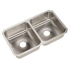 MOEN, Camelot Undermount Stainless Steel 31.25x18x7.5 0-Hole Double Bowl Kitchen Sink, 22257 at The Home Depot - Mobile
