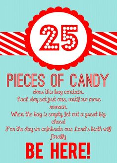 Detail-Oriented Diva!: Christmas Candy Countdown Gift
