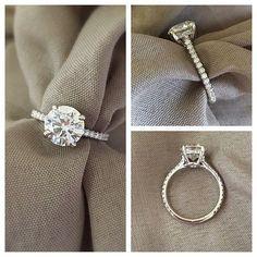 nice Bague Diamant - Tendance 2017/2018 : Engagement Ring for Round Diamond...