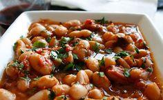 borlotti stewed beans