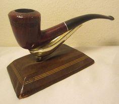Vintage London Hall Rustic Bent Dublin Style Briar Estate Tobacco Smoking Pipe